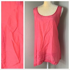 Soft Surroundings Pink Silk Boho Tank XL